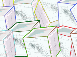 Modelling - a series of 3D cubes